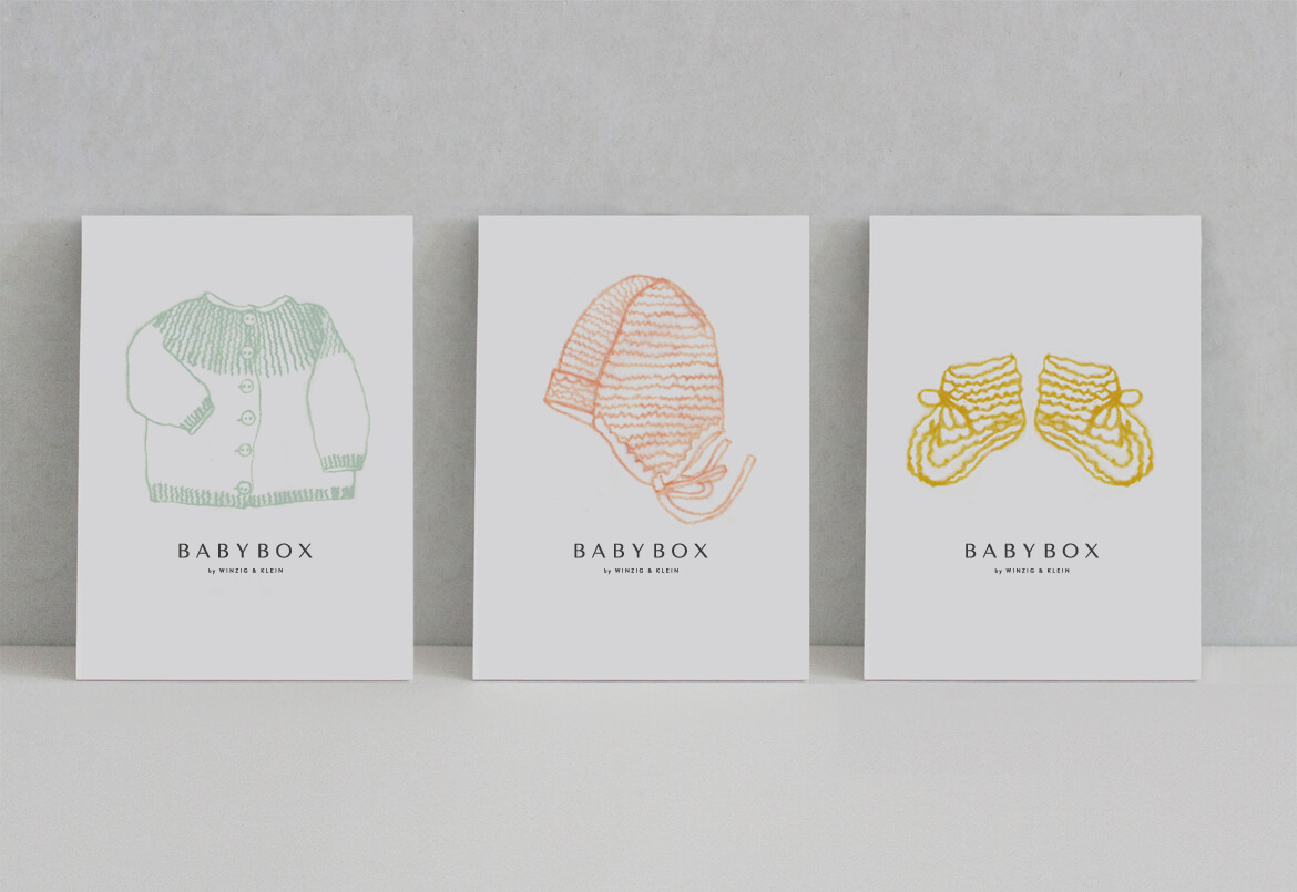 Babybox by Winzig & Klein Postkarten & Illustration